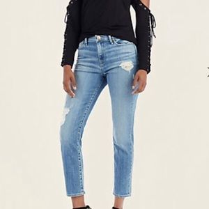 🔷 High Rise Tapered Skinny Jeans